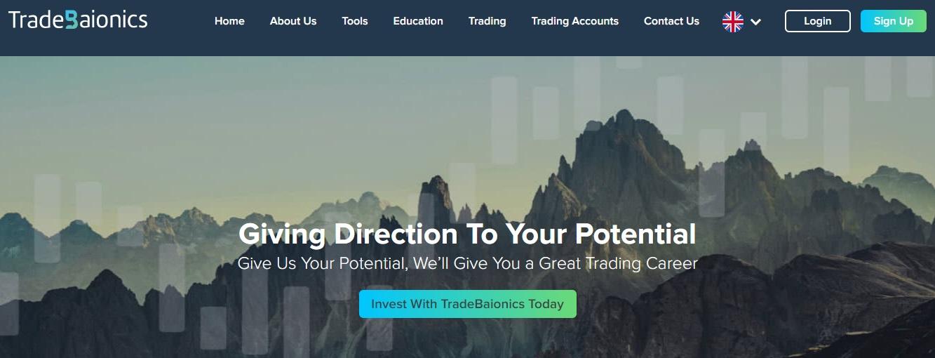 TradeBaionics website